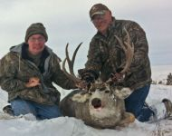 2012 Ed  & Eric Edmundson with Ed's First Mule Deer