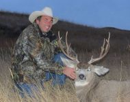 Happy Father on a Family Montana Mule Deer Hunt