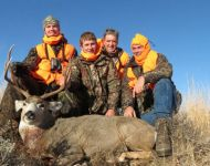 Family Enjoying Eastern Montana Mule Deer